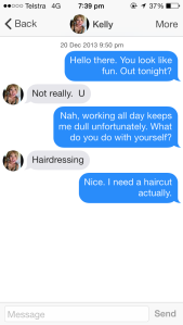 She never did give me that haircut.